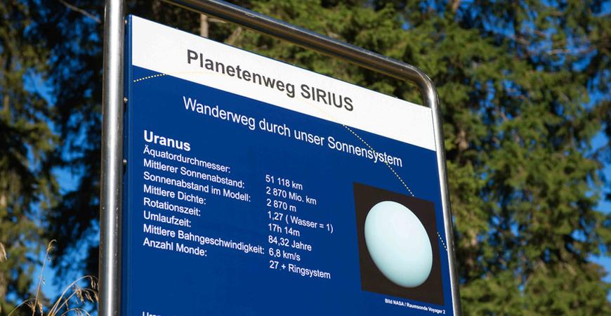 Planetenweg SIRIUS