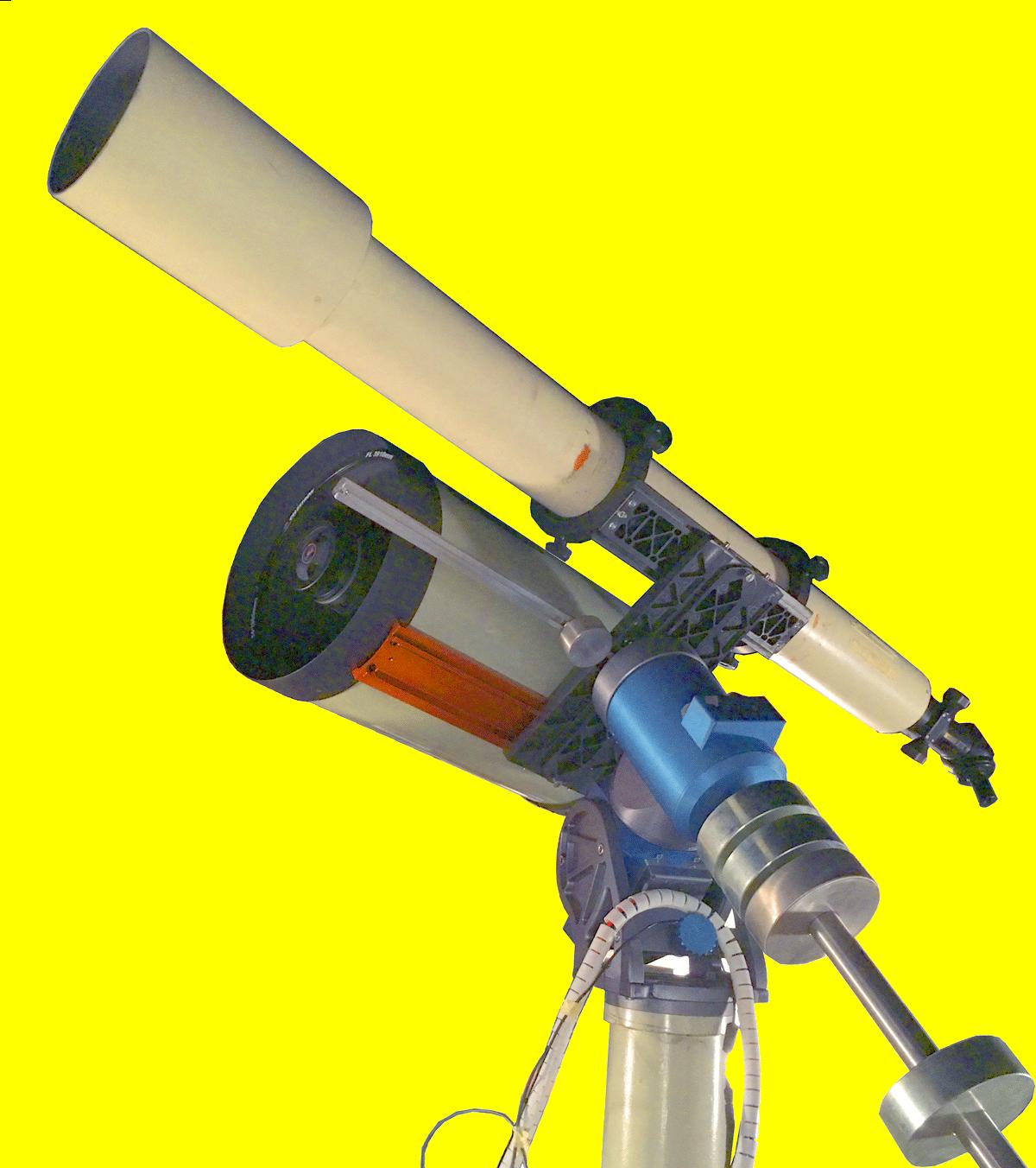 Refraktor und Spiegelteleskop der AGG und Kantonsschule Glarus